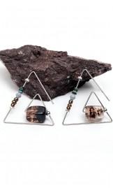 Rippuvad naturaalsete kividega kõrvarõngad YCE0039