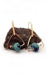 Rippuvad naturaalsete kividega kõrvarõngad YCE0111