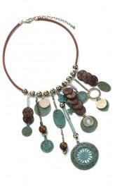 Boho stiilis müntidega kaelakee NL13166