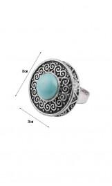 Retro stiilis türkiis sõrmus AR016