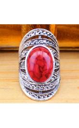 Retro stiilis рunase türkiisiga sõrmus TR224