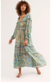 b56fd8e5e01 Boho stiilis lillemustriga kleit BP145