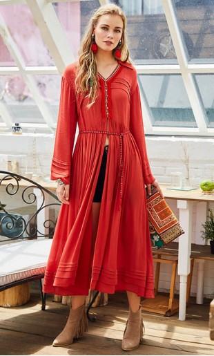 Boho stiilis kleit 1295