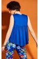 Kuninglik sinine varrukateta lai pluus 412770