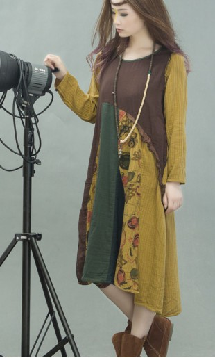 b1603ef038e Mitmevärviline asümmeetriline kleit G112Y020