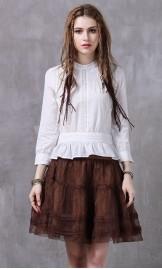 Vintage stiilis valge pluus B9216