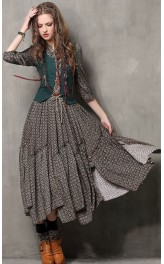 Pikk boheemia stiilis kleit vestiga A6531