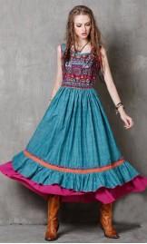 Etno stiilis pikk kleit A8127