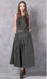 Varrukateta kleit boho stiilis A8206