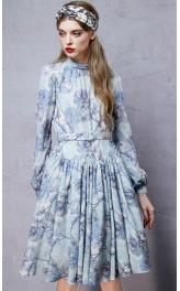 Vintage stiilis lillemustriline kleit LA10751Q