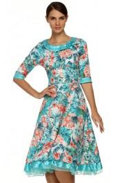 Vintage lillemustriga kleit QSL154