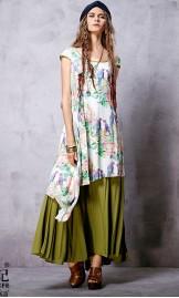 Etno stiilis kahekihiline kleit LA14256C