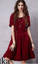 Boho stiilis puuvillane kleit LA14958X
