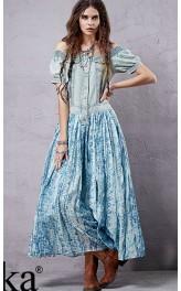 Suvine puuvillane kleit boho stiilis LX15155X